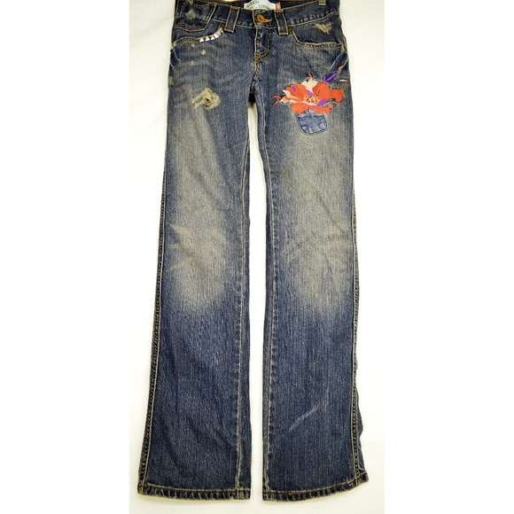 Levi 504 jeans slouch 3 x 32 embroidered studs dis